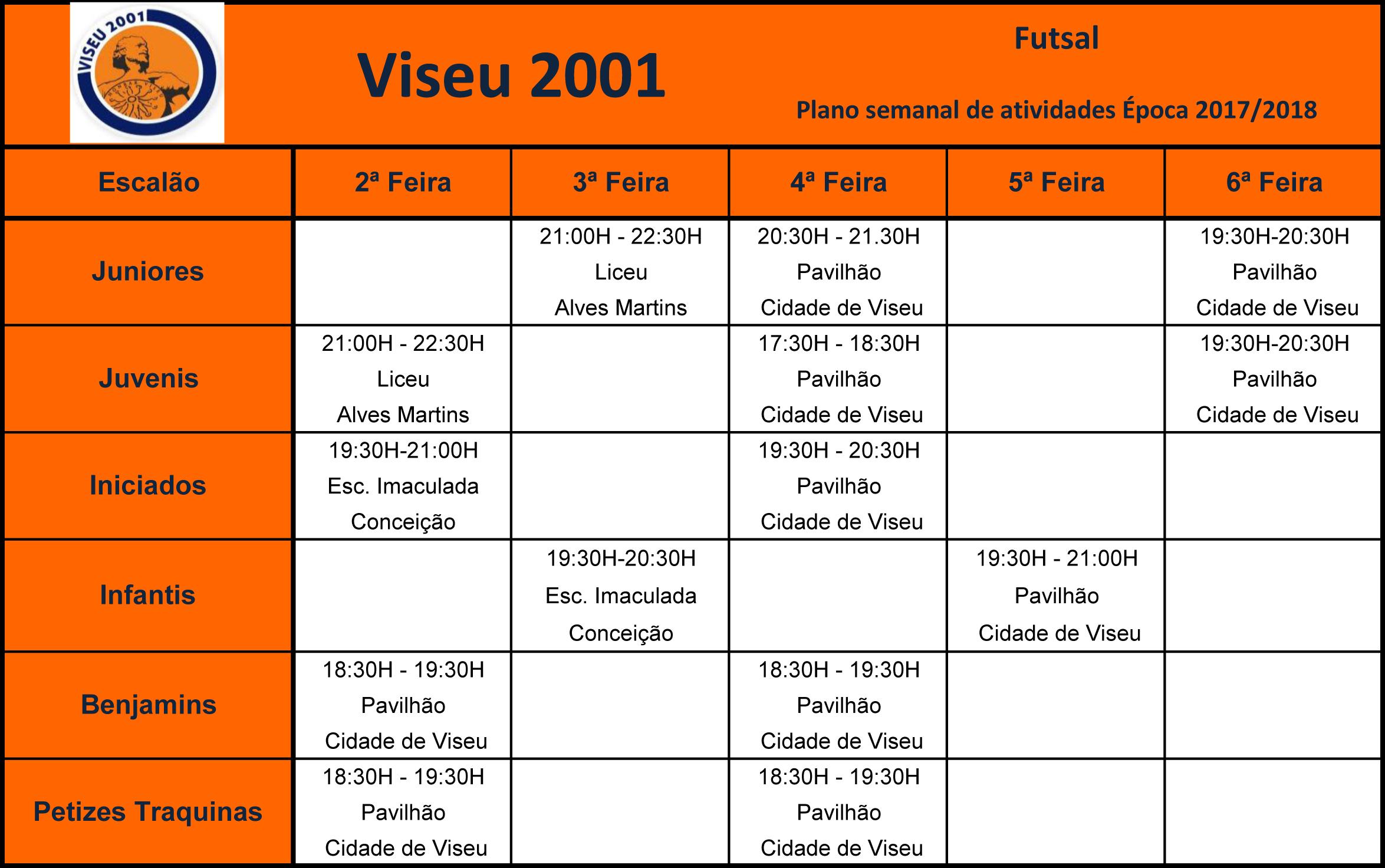 Mapas Treino FUTSAL 17-18